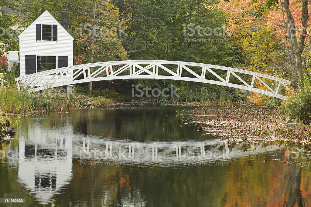 Somesville Bridge stock photo