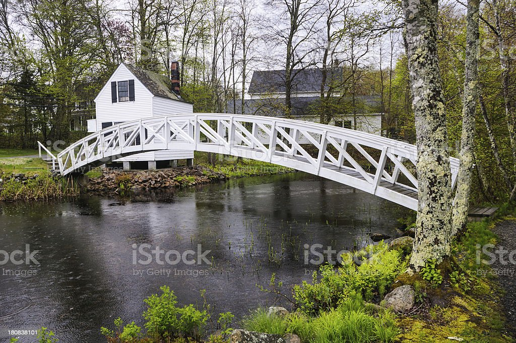 Somesville Footbridge stock photo