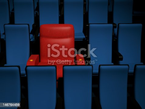 One comfortable leather theatre seat, just for you.