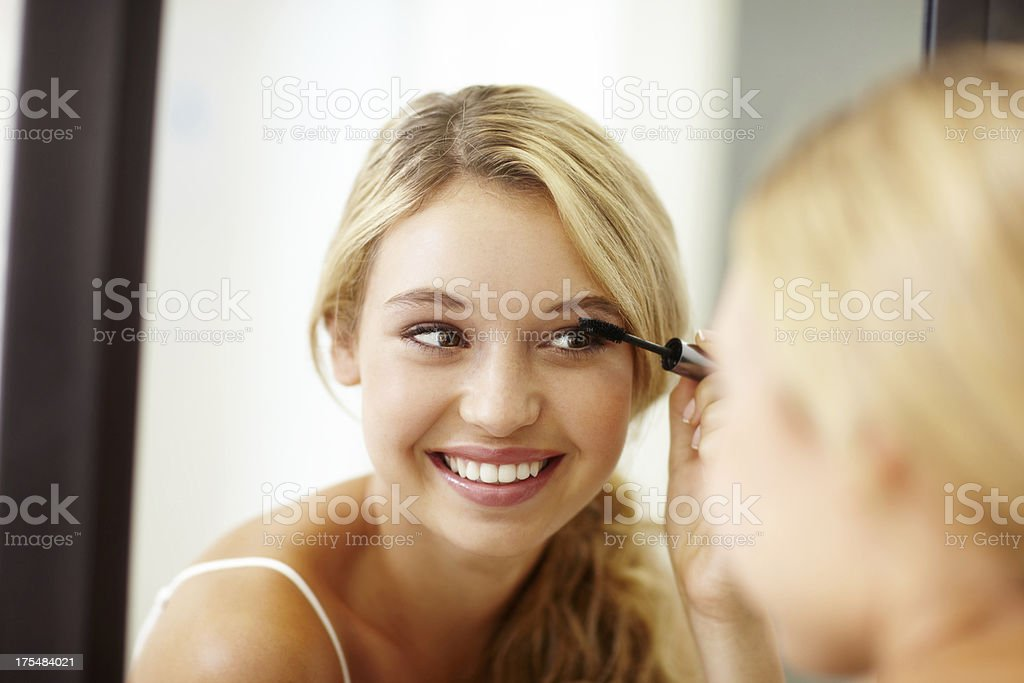 Something small to lengthen my lashes... stock photo