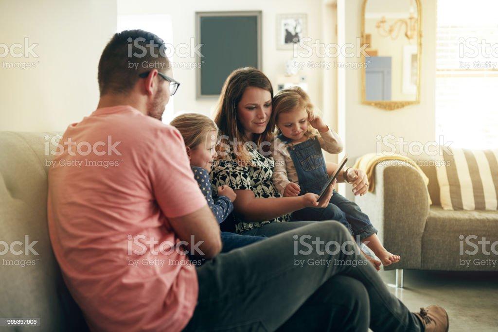 Something that the whole family can enjoy zbiór zdjęć royalty-free