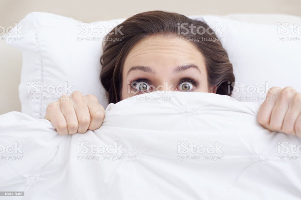 Something went bump in the night... stock photo