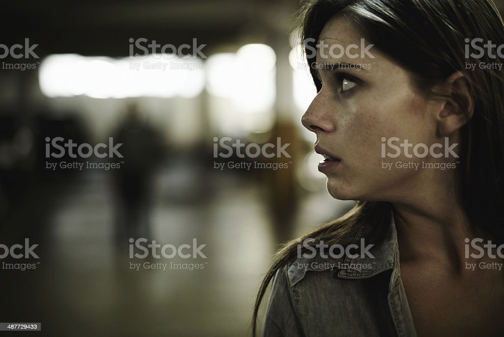 Something's not right here... stock photo