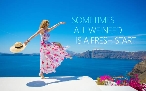 Sometimes all we need is a fresh start stock photo