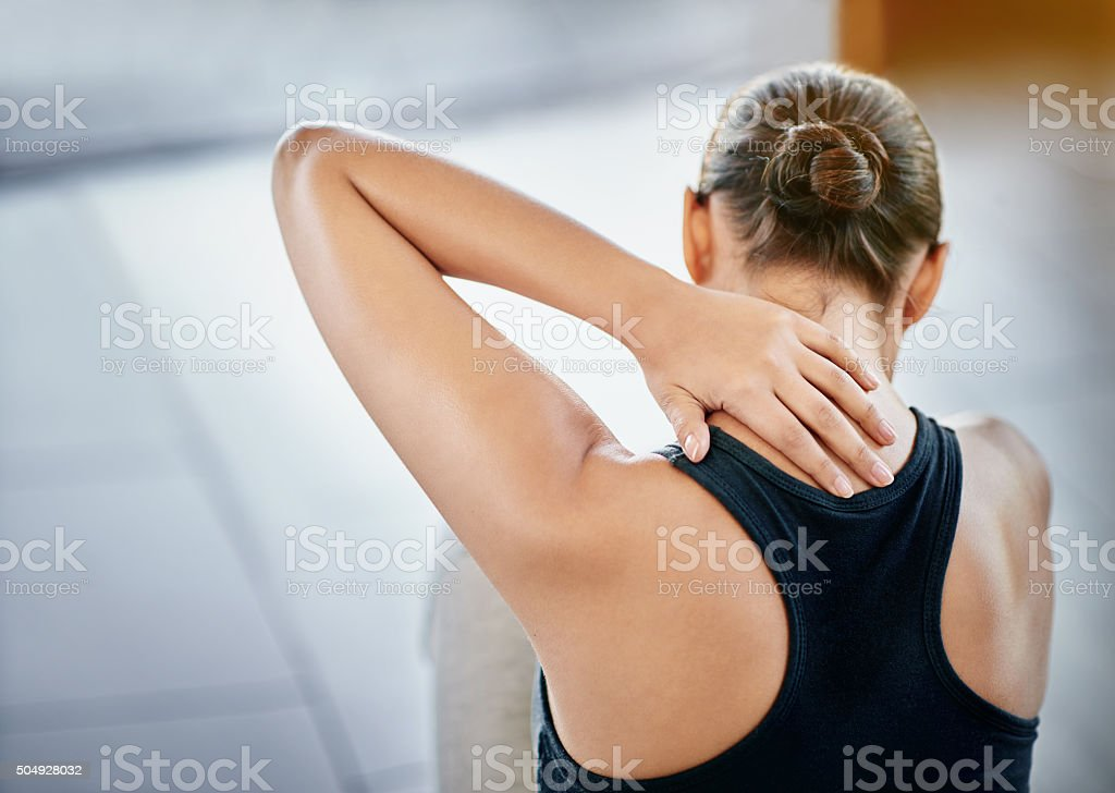 Sometimes exercise can lead to injury stock photo