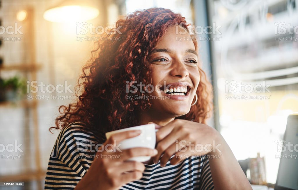 Sometimes I think it's coffee that awakens my spirit royalty-free stock photo