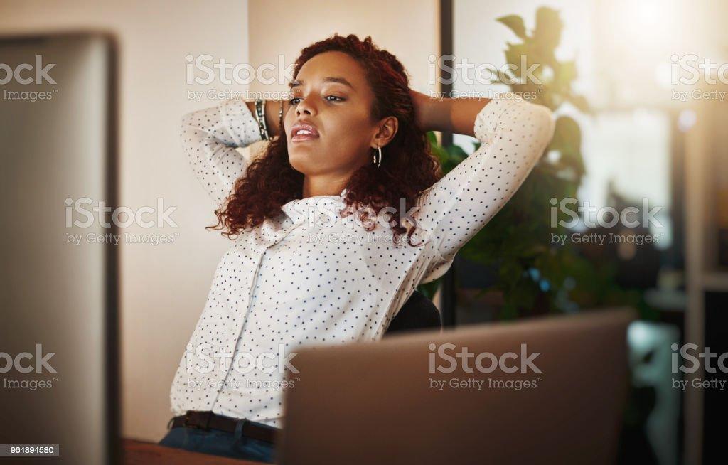 Às vezes sucesso realmente acontecer durante a noite - Foto de stock de Adulto royalty-free