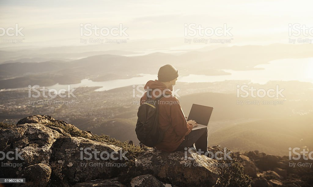 Sometimes you just need some time away from the city stock photo