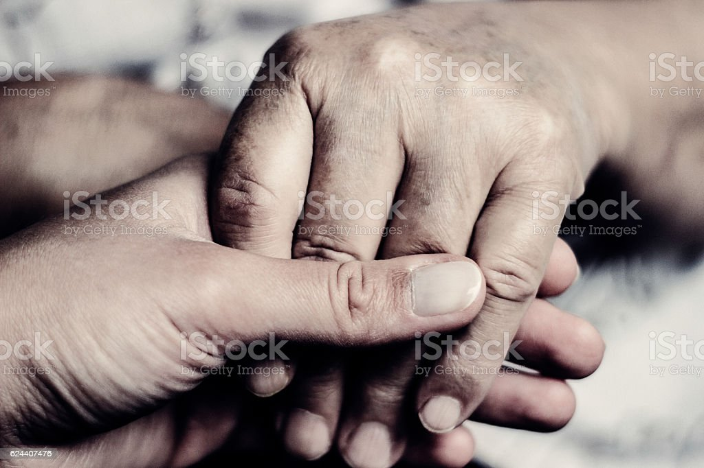 Sometimes you need a hand to hold stock photo
