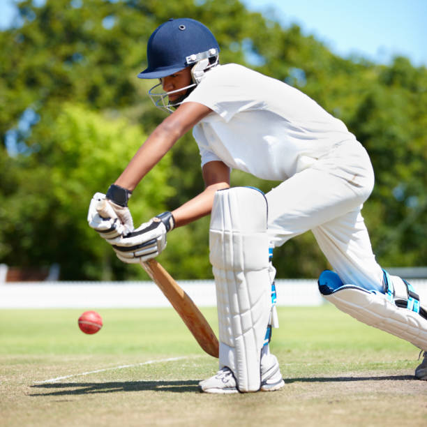 sometimes you've got to play it safe - cricket stock photos and pictures