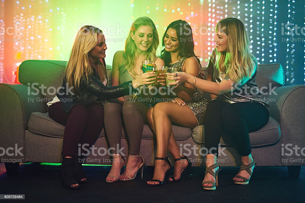 Sometimes you've just gotta kick it with your girls - foto de stock