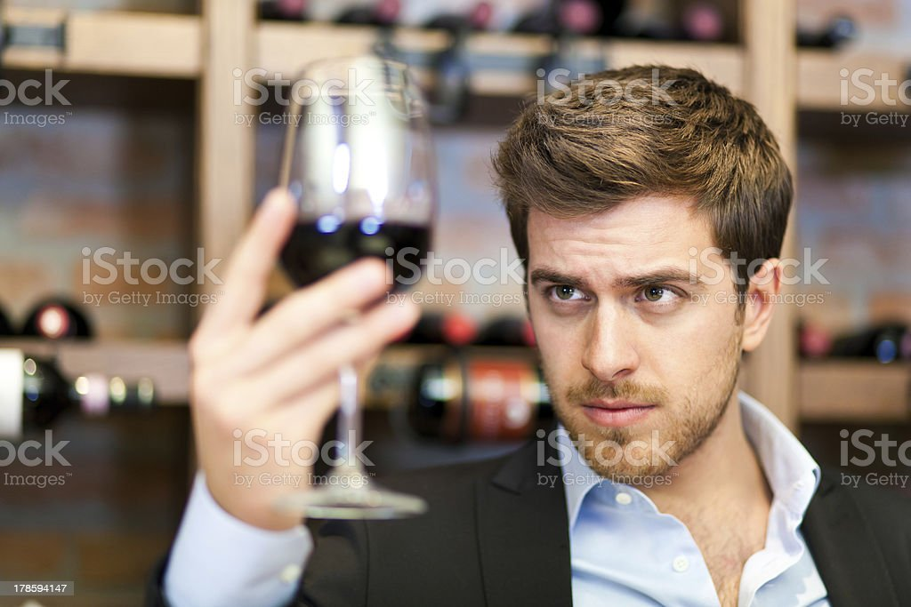 Sommelier royalty-free stock photo