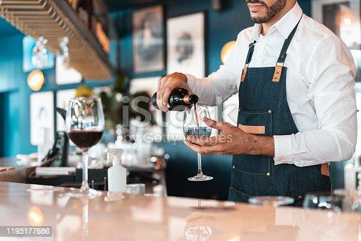 Argentina, Argentinian Ethnicity, Pouring,  Waiter, Winetasting