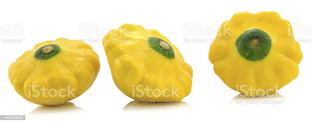 Sommer Squash isolated on white royalty-free stock photo