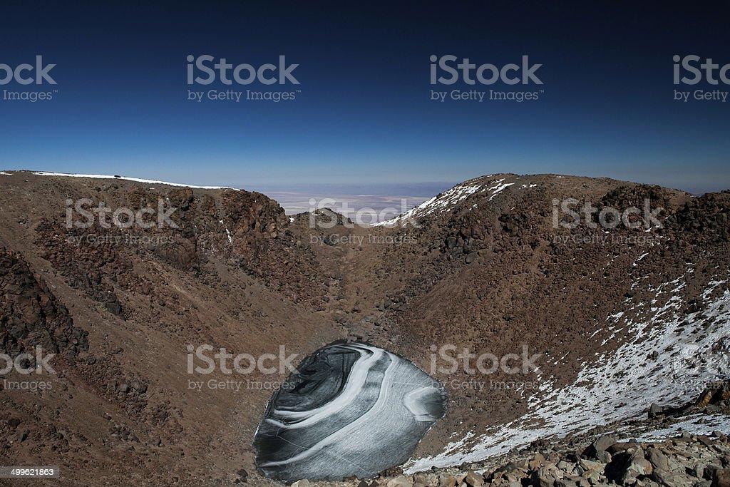 Sommet Du licancabur en Bolivie stock photo