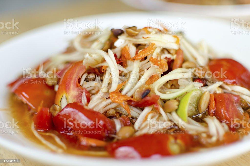 Somtam, Thai Papaya Salad stock photo