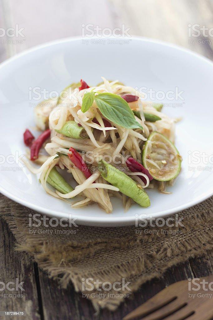 Somtum, Thai food stock photo