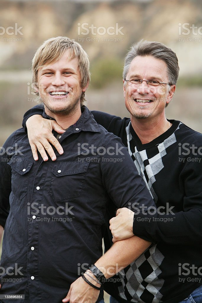 Son and Father Cheerful Portrait royalty-free stock photo