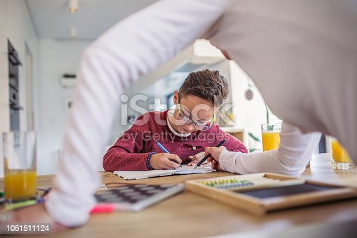 680535874 istock photo Son doing homework with mother 1051511124
