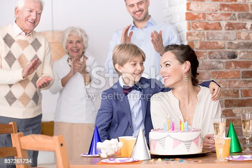 istock Son embracing his mother 837261734