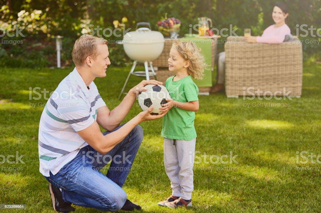 Boule donnant fils au père - Photo