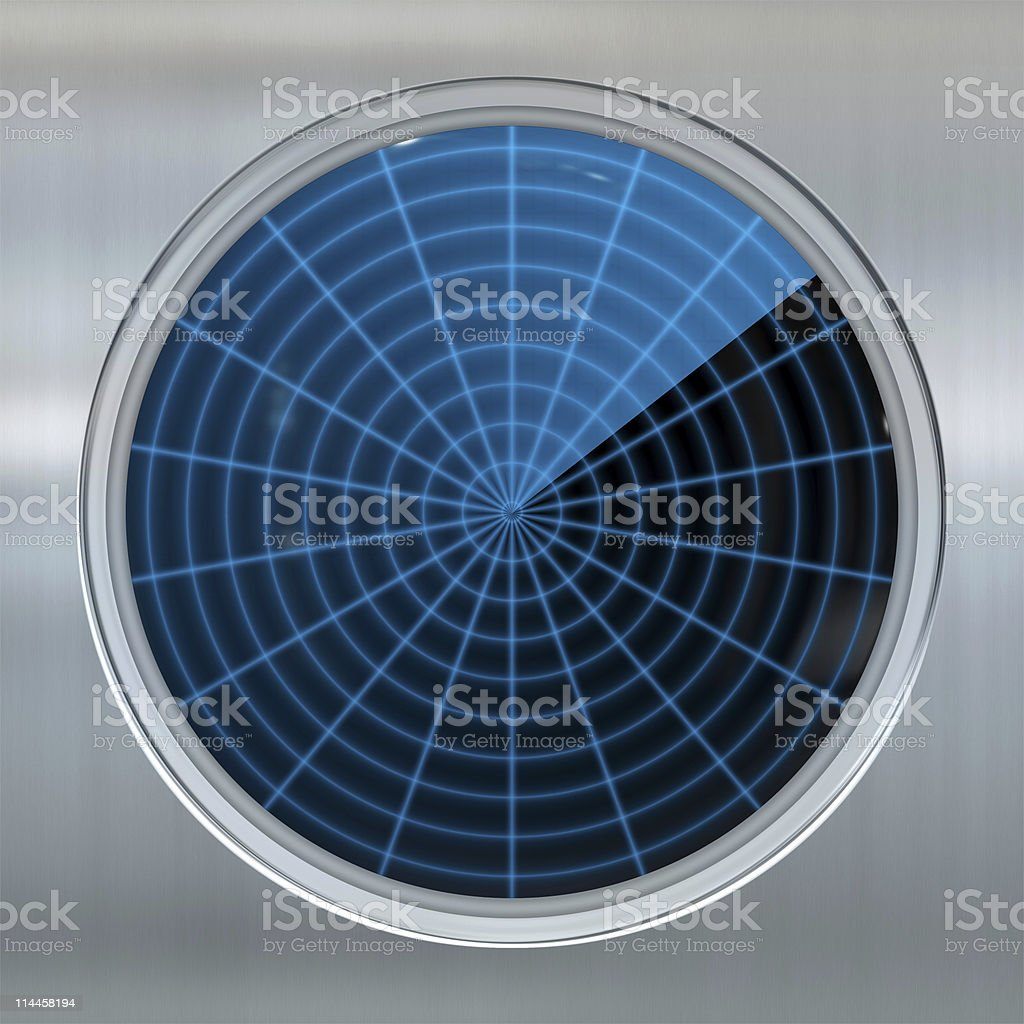sonar or radar screen royalty-free stock photo
