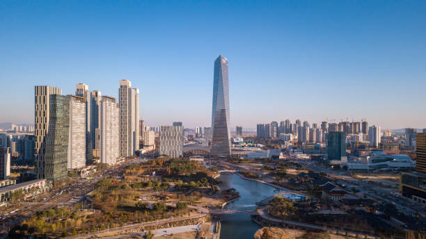Parque Central de Songdo. Incheon, Corea del sur - foto de stock
