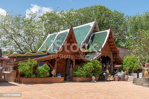Songkhla, Thailand, Apr. 13, 2018 : Meditation at Wat Kudi, Koh Yo, Songkhla This place is quiet, good atmosphere, suitable for practice.