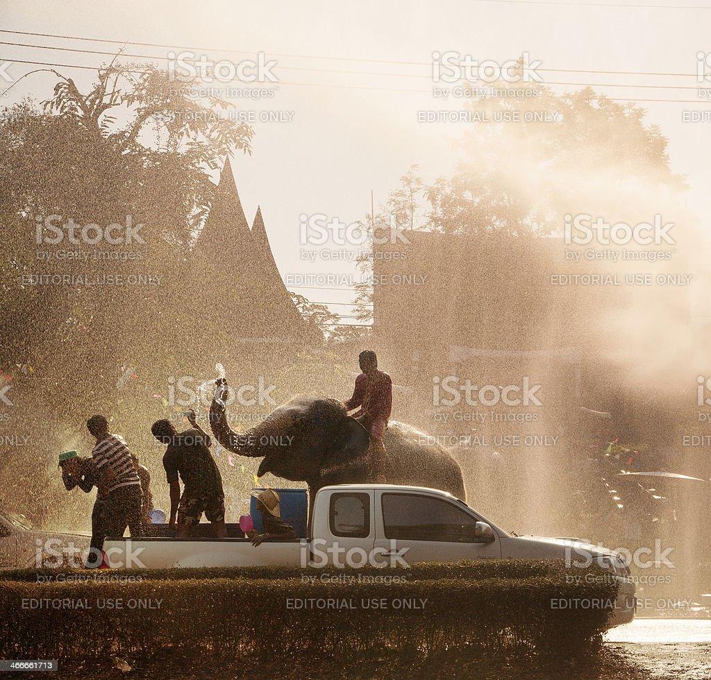 Songkran Festival stock photo