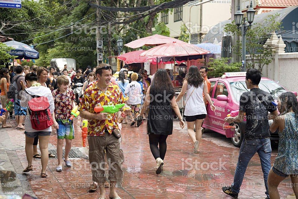 Songkran Thai New Year royalty-free stock photo