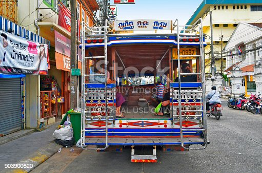 istock Songthaew parked at Ranong Road in Phuket Town 903900820