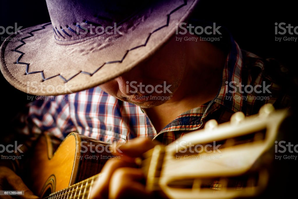 Songwriter and Guitar Player stock photo