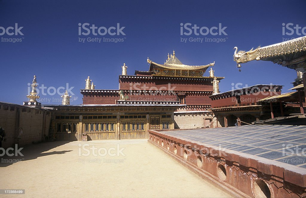 Songzanlin Temple in China royalty-free stock photo