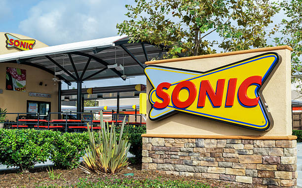 Sonic Drive-In Restaurant stock photo