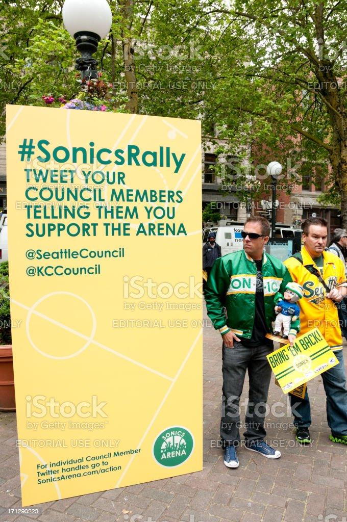 Sonics Rally royalty-free stock photo