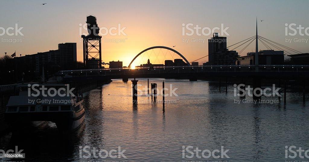 Sonnenaufgang am Clyde stock photo