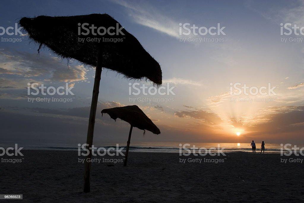 Sonnenaufgang am Strand royalty-free stock photo