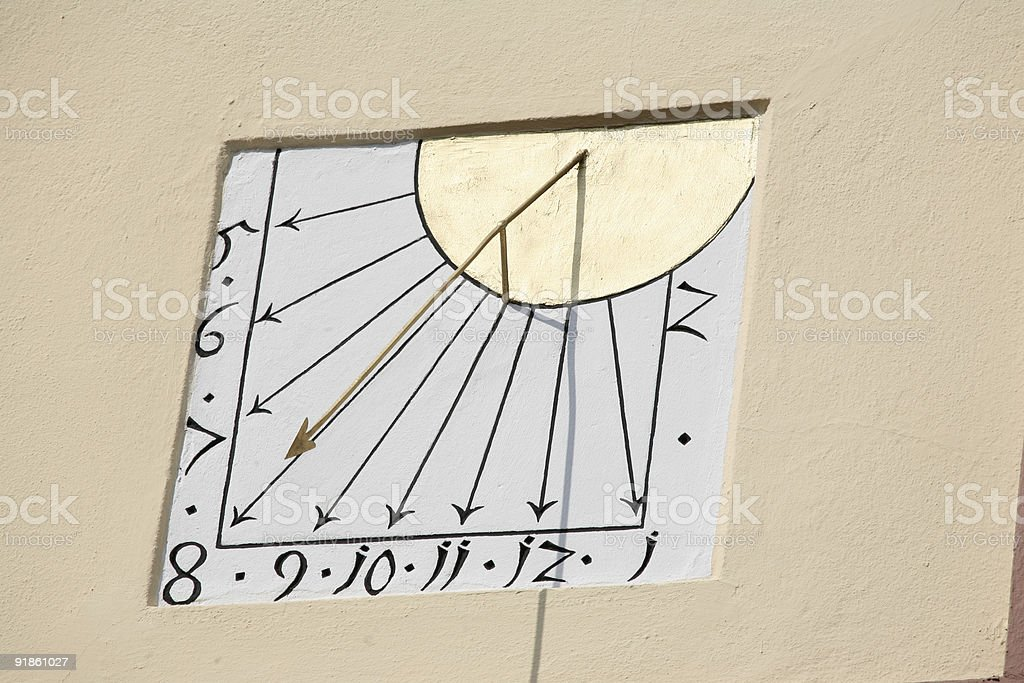 Sonnenuhr - Sun dial royalty-free stock photo