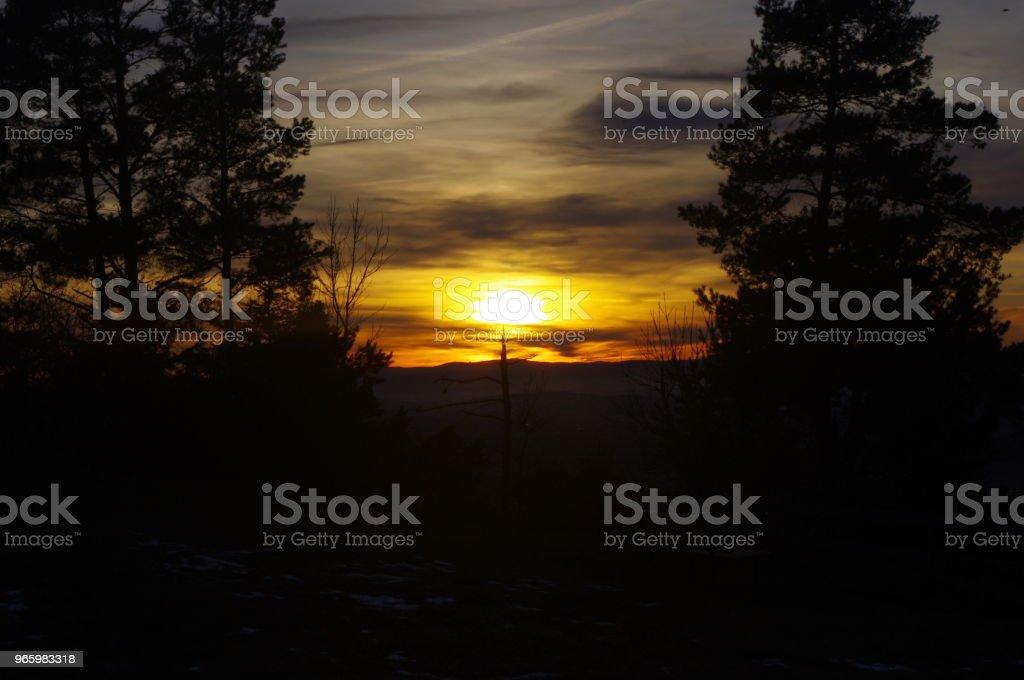 Sonnenuntergang am Klippeneck II - Royalty-free Dusk Stock Photo