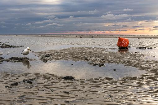 Sonnenuntergang am Strand von Sankt Peter Ording