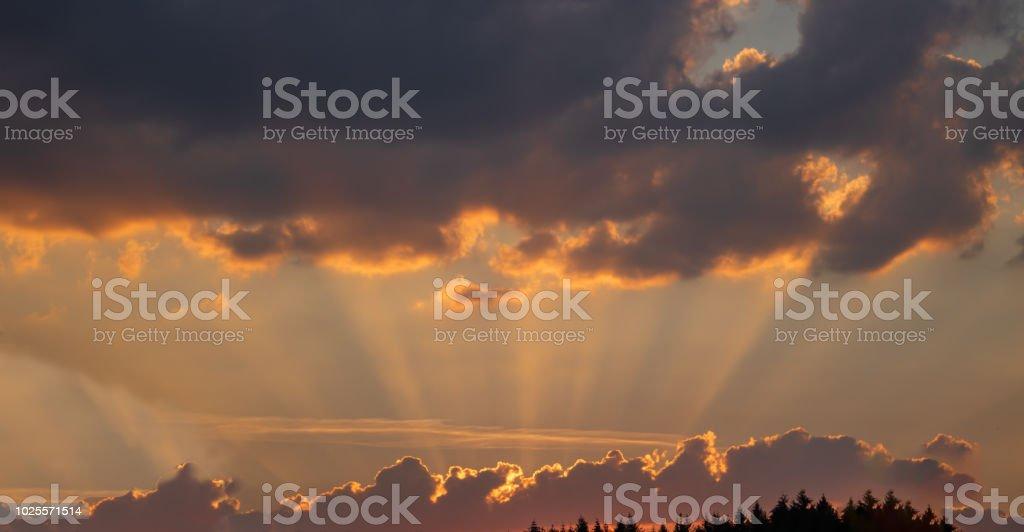 Sonnenuntergqang stock photo