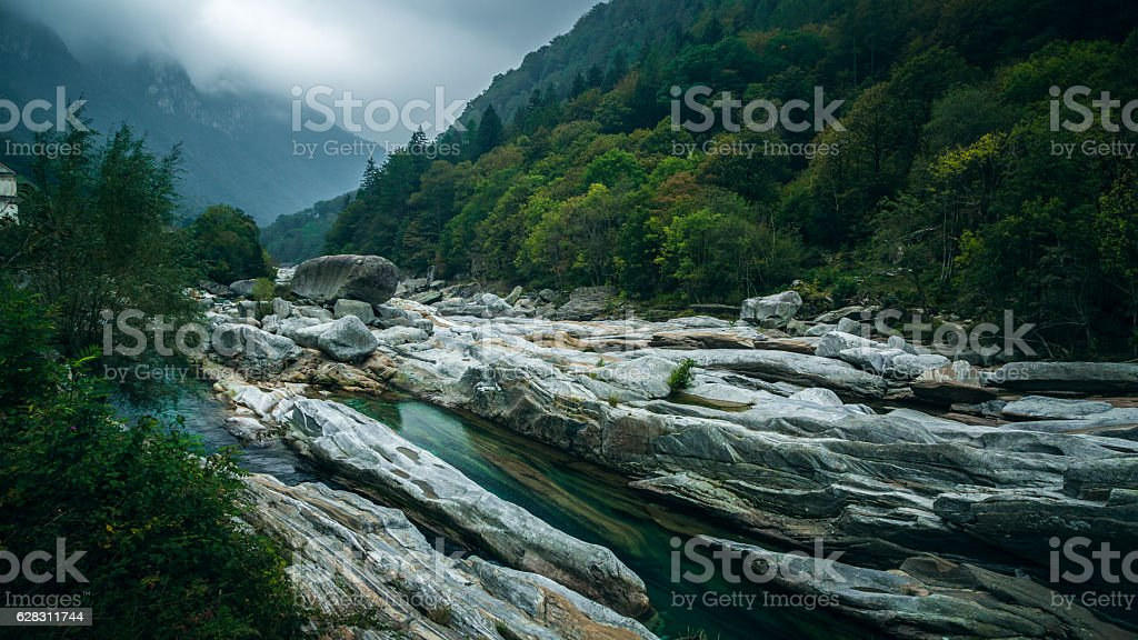 Sonogno Hike Switzerland stock photo