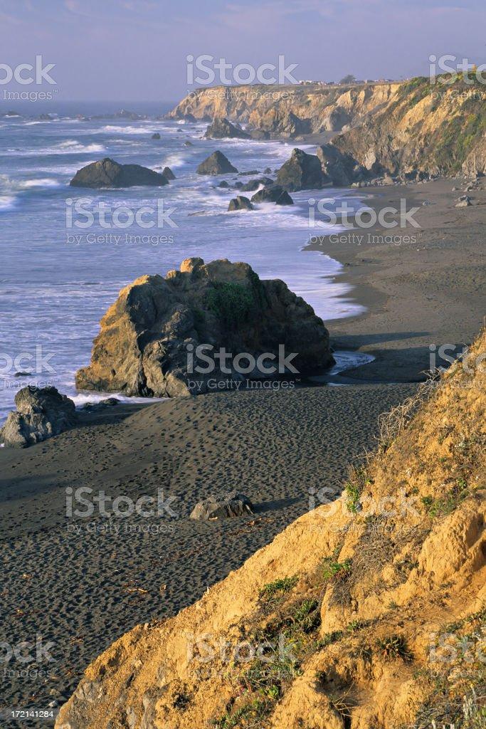 Sonoma coast at sunset stock photo