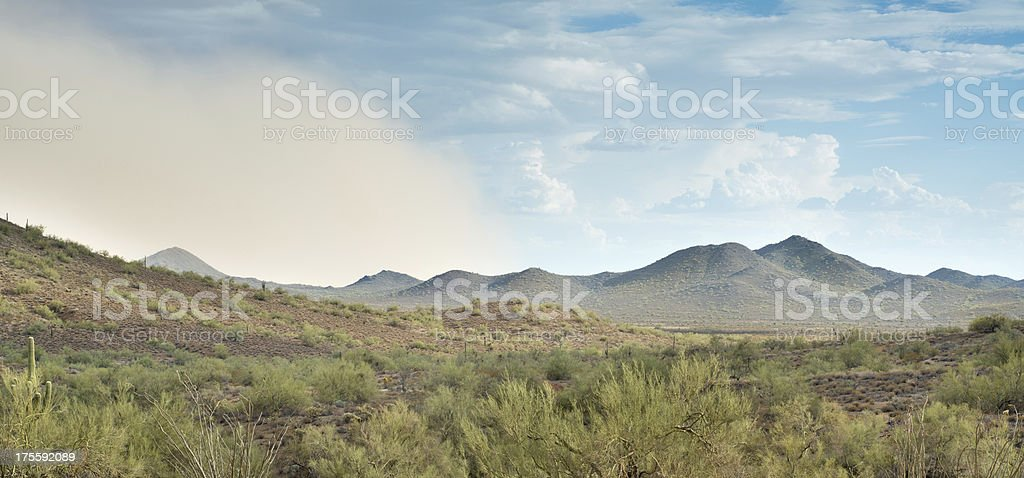 Sonoran Desert Dust Storm stock photo