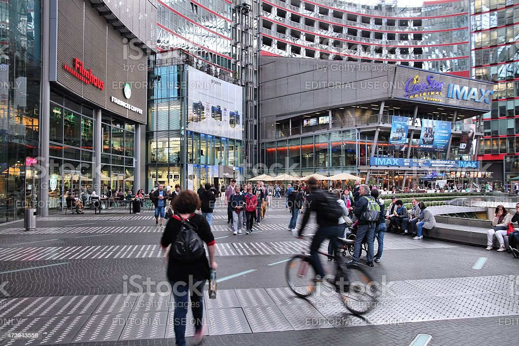 Sony Center, Berlin stock photo