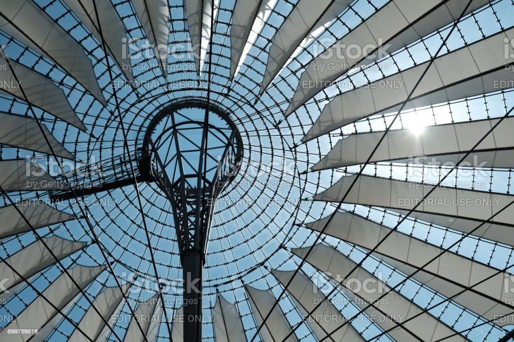 Sony Center building complex located at Potsdamer Platz in Berlin stock photo