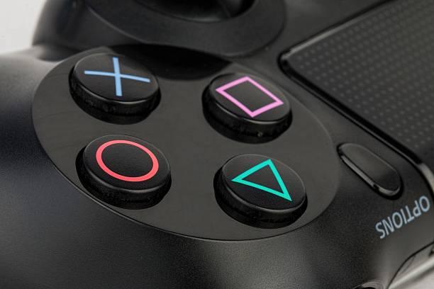 sony dualshock 4 controller. - playstation stockfoto's en -beelden