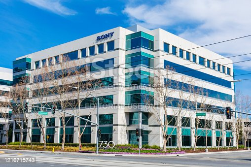 Sony Electronics modern researh and development center in Silicon Valley. Sony Corporation is a Japanese multinational conglomerate corporation - San Jose, California, USA - 2020