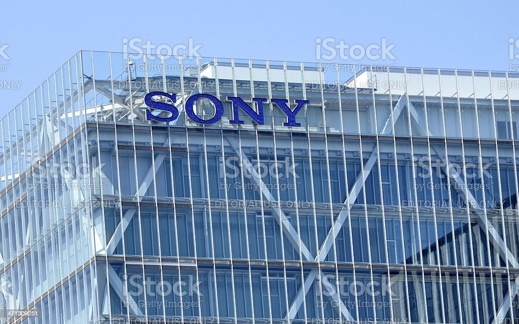 Sony logo royalty-free stock photo