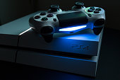Shanghai, China - May 13th: Sony Play Station 4 and dualshock video game console
